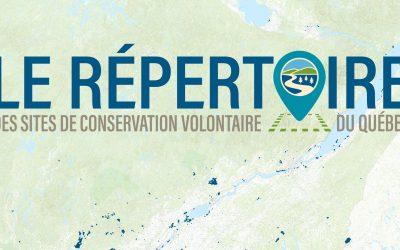 Lancement du nouveau Répertoire des milieux naturels protégés du Québec
